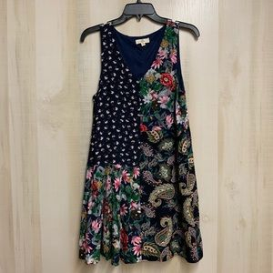 EUC Entro Floral Block Dress Size Small